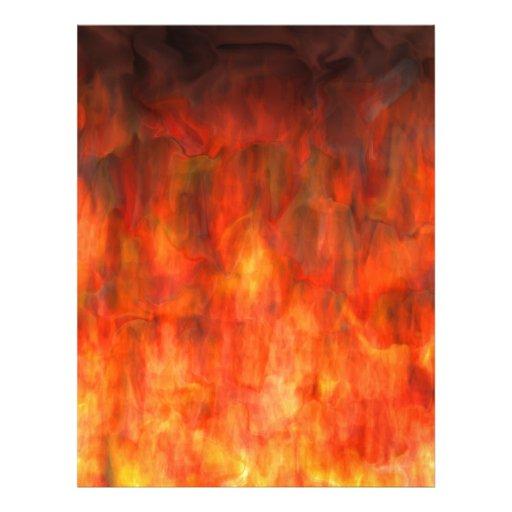 ¡Se arde! Llamas del arte abstracto del infierno Plantilla De Membrete
