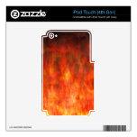 ¡Se arde! Llamas del arte abstracto del infierno Calcomanía Para iPod Touch 4G