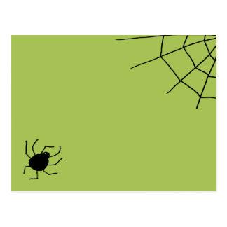 se arrastra hacia fuera araña postal
