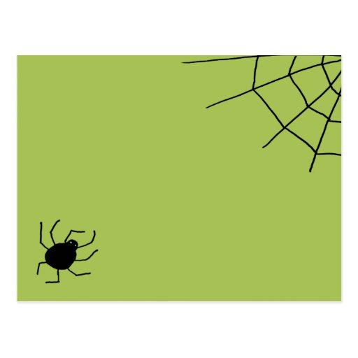 se arrastra hacia fuera araña tarjetas postales