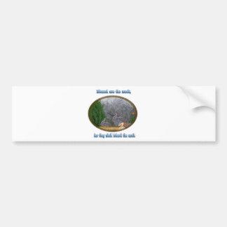 se bendicen el mansos etiqueta de parachoque