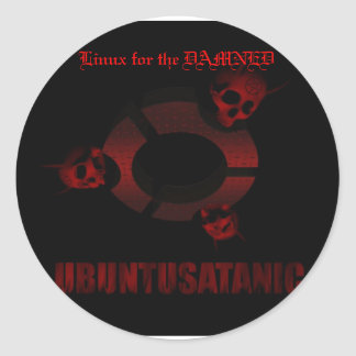 SE-Bloodskulls, Linux for the DAMNED Classic Round Sticker