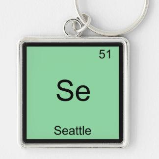 SE - Camiseta del símbolo del elemento de la quími Llavero Personalizado
