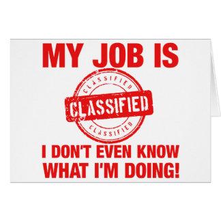 se clasifica mi trabajo, I…. Tarjeta De Felicitación