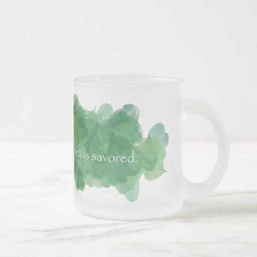 Se consume el café, té es taza Savored