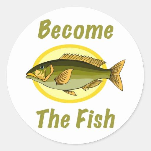 Se convierte el pegatina de los pescados