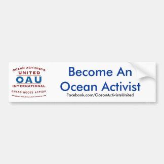 Se convierte un activista del océano etiqueta de parachoque
