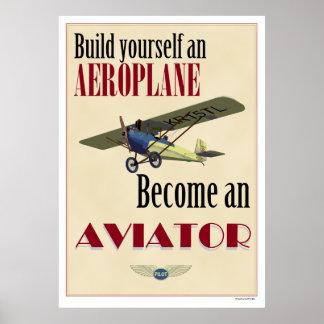Se convierte un aviador posters