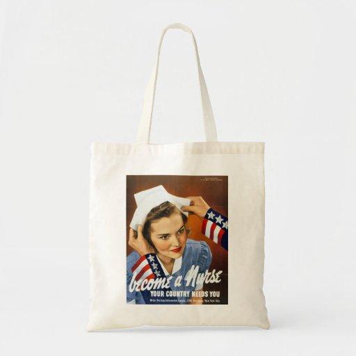 Se convierte un bolso de la enfermera bolsa lienzo