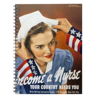 Se convierte un cuaderno de la enfermera