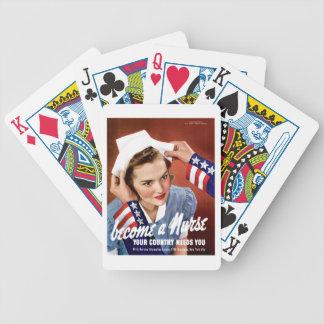 Se convierte una enfermera cartas de juego