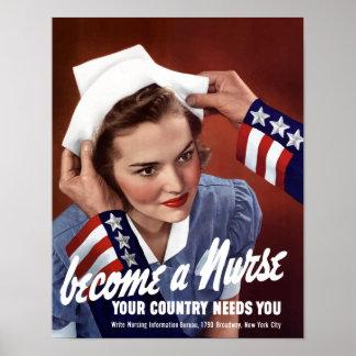 Se convierte una enfermera que su país le necesita poster