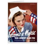 Se convierte una enfermera tarjeta