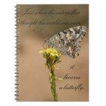 Se convirtió en una mariposa - cuaderno
