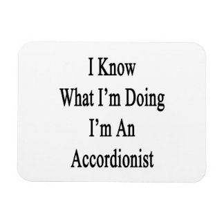Sé cuál soy haciendo yo soy acordeonista imán