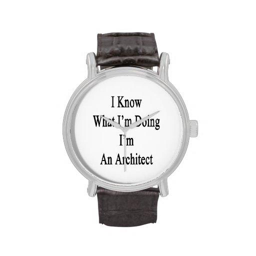 Sé cuál soy haciendo yo soy arquitecto relojes de pulsera