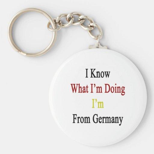 Sé cuál soy haciendo yo soy de Alemania Llaveros