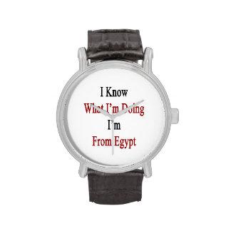 Sé cuál soy haciendo yo soy de Egipto Relojes De Pulsera