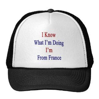 Sé cuál soy haciendo yo soy de Francia Gorras