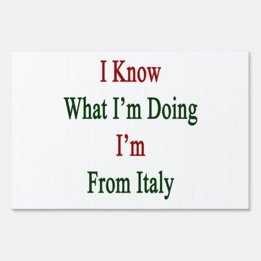 Sé cuál soy haciendo yo soy de Italia