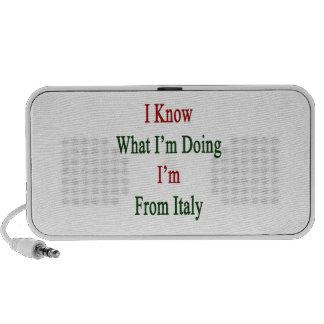 Sé cuál soy haciendo yo soy de Italia Notebook Altavoz