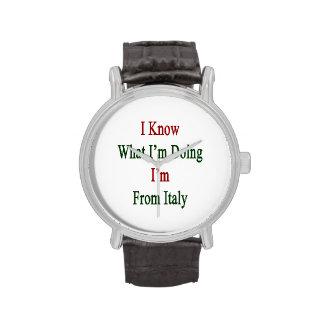 Sé cuál soy haciendo yo soy de Italia Reloj