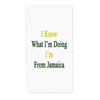 Sé cuál soy haciendo yo soy de Jamaica Etiqueta De Envío