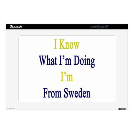 Sé cuál soy haciendo yo soy de Suecia Portátil 38,1cm Skin