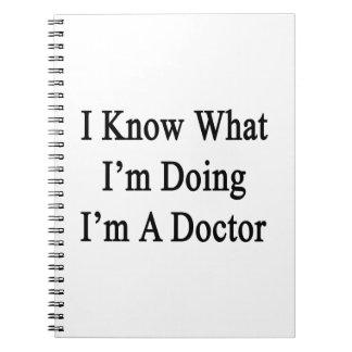 Sé cuál soy haciendo yo soy doctor libretas espirales