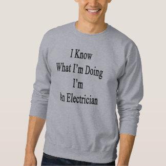 Sé cuál soy haciendo yo soy electricista sudadera con capucha