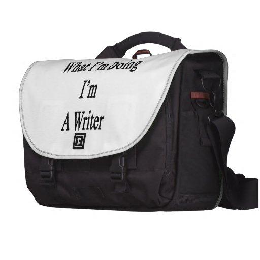 Sé cuál soy haciendo yo soy escritor bolsas para ordenador