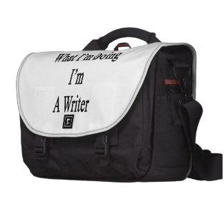 Sé cuál soy haciendo yo soy escritor bolsa para ordenador