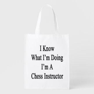 Sé cuál soy haciendo yo soy instructor del ajedrez bolsa para la compra