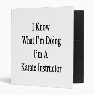 Sé cuál soy haciendo yo soy instructor del karate