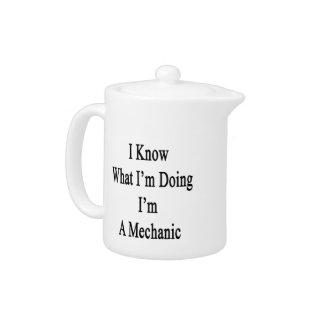 Sé cuál soy haciendo yo soy mecánico