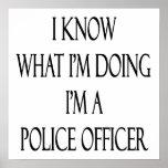 Sé cuál soy haciendo yo soy oficial de policía impresiones