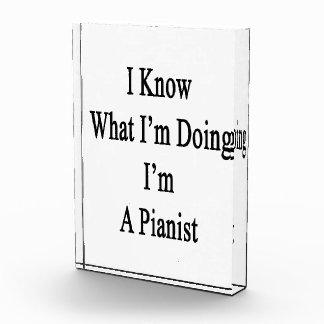 Sé cuál soy haciendo yo soy pianista