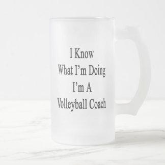 Sé cuál soy haciendo yo soy un coche del voleibol taza cristal mate