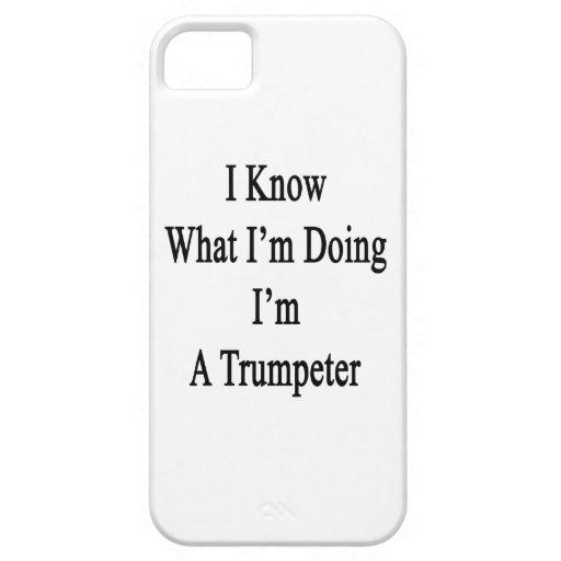 Sé cuál soy haciendo yo soy un trompetista iPhone 5 fundas