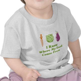 Sé de adónde mi comida viene camiseta