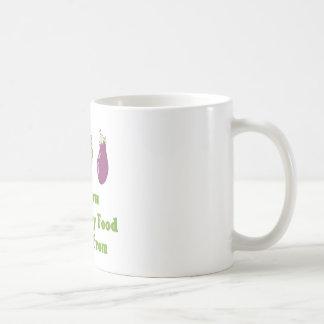 Sé de adónde mi comida viene taza de café