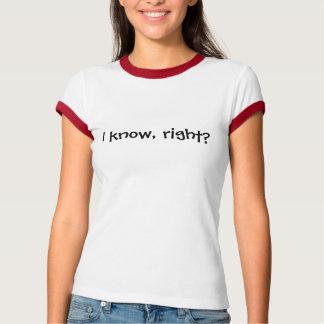 ¿Sé, derecho? Camiseta Playeras