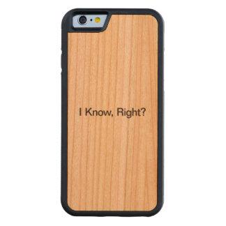 Sé, derecho funda de iPhone 6 bumper cerezo