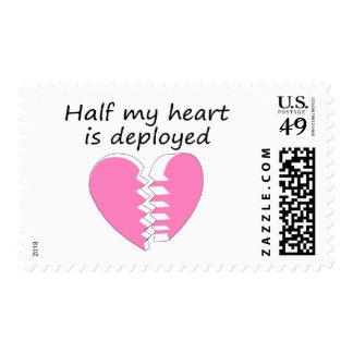 Se despliega la mitad de mi corazón (el rosa) sellos