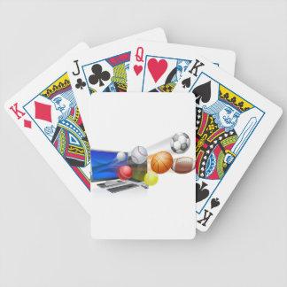 Se divierte concepto del app del ordenador cartas de juego