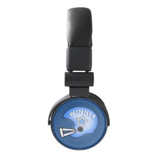 se divierte las auriculares azules del ganador del