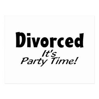 Se divorcia le el tiempo del fiesta postal