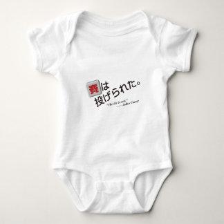 Se echa el dado (kanji y los Hiragana) Body Para Bebé