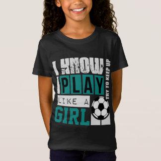 sé el juego de i como un fútbol del chica playera