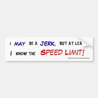 Sé el límite de velocidad pegatina de parachoque